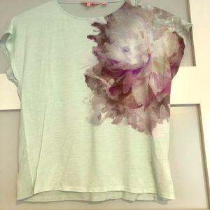 Women's Ted Baker T-Shirt - Size 2 - Green